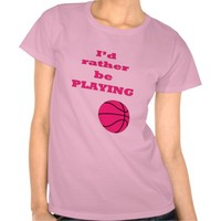 Pink Basketball Illustration and Quote