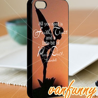 Tinkerbell quote - iPhone 4/4s/5 Case - Samsung Galaxy S3/S4 Case - Blackberry Z10 Case - Black or White