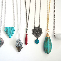 Long Pendant Necklaces  You Choose Two for by ASimpleKindOfFancy