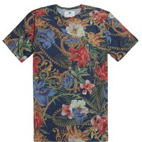 On The Byas Baroque Sub Crew T-Shirt - Mens Tee - Blue