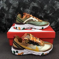 Nike React Element 87 Ivory Orange Running Shoes - Best Deal Online