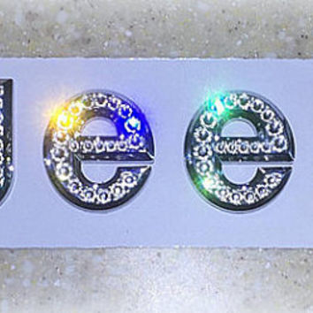 Jeep Chrome Hood Emblem made with Swarovski Crystals  - Car Jewelry