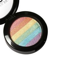 New Rainbow Highlighter Makeup Palette Cosmetic Blusher Shimmer Powder Contour Eyeshadow Face Changing Highlight NW