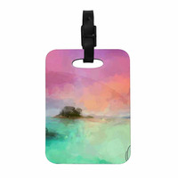 "Oriana Cordero  ""Tenerife"" Aqua Purple Decorative Luggage Tag"