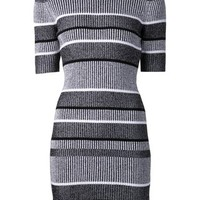 T By Alexander Wang 2X2 RIB KNIT DRESS - Farfetch