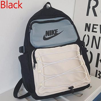 NIKE New Products Fully Printed Logo Printed Men's and Women's Backpack, School Bag, Travel Bag, Luggage Bag