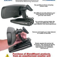 BlendMount BBE-2000R Aluminum Radar Detector Mount for Escort/Beltronics [EXCEPT MAX SERIES]- Compatible with Most Domestic and Japanese Vehicles - Made in USA - Looks Factory Installed