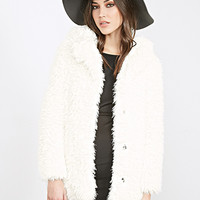FOREVER 21 Faux Shearling Overcoat