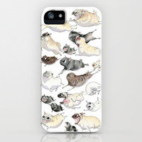 Pugs on the Run! iPhone & iPod Case by InkPug | Society6