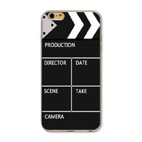 Retro Clapperboard Clapper Clapboard Slate Slate Board Slapperboard Sync Slate Time Slate Sticks Board Sound Marker Painted Vivid Pattern Soft TPU Cover Case For Apple iPhone 6 6s 4.7inch