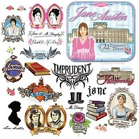 Jane Austen Temporary Tattoo Set | 22 Tattoos in a Gift Tin