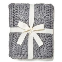 ONETOW UGG OVERSIZED KNITTED BLANKET - GREY