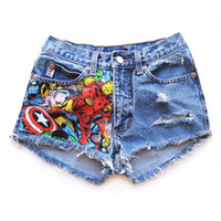 HIGH WAISTED SHORTS :: FABRIC-ATED from GET HIGH WAISTED