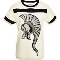 Spartan Embroidered Cotton T-Shirt