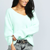 Sasha Oversized V Neck Jumper