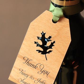 Wedding Wooden Favor Gift Tags - Unique Fall Wedding Favors  (Set of 25)