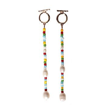 COLORED ROCK EARRINGS