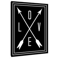 Love Quote - Custom Art Print - love and arrows - Home Decor - wall art - black and white love art - framed love arrow - hipster canvas art