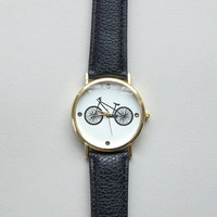Bicycle Wrist Watch in Black