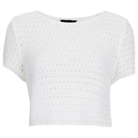 Knitted Crochet Crop Top - Knitwear - Clothing - Topshop USA