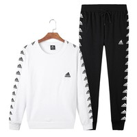 ADIDAS 2018 autumn and winter new trend men's casual fashion sportswear two-piece Black