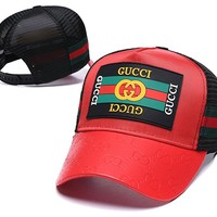 Red Womens Mens GG Hat Gucci Baseball Cap