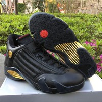 Air Jordan 14 Dmp Black Gold Basketball 40 47