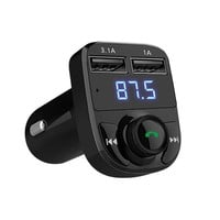 Bluetooth Car Kit Handsfree Set FM Transmitter MP3 Music Player 5V 4.1A Dual USB Car Charger Support TF Card 1G-32G Car-Styling