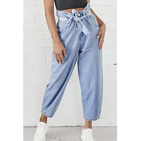 High Roller High Waisted Denim Pants