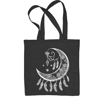 Moon Dream Catcher Shopping Tote Bag