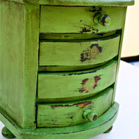 UpCycled Vintage Wood Jewelry Box HAND MADE by RepurposebyEchoes