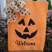 Halloween Pumpkin Face Fall Garden Flag - Outdoor Decor