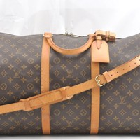 Auth Louis Vuitton Monogram Keepall Bandouliere 60 Boston Bag M41412 LV 53597