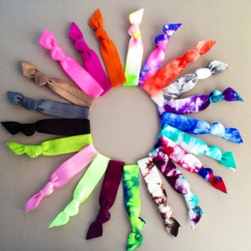 20 Hair Ties Ponytail Holders Back To School Collection