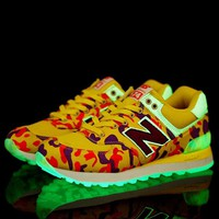 New Balance Woman Fashion Light Night Luminous Sneakers Sport Shoes