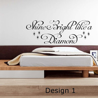 Rihanna Diamonds Lyrics Vinyl Wall Art Sticker Decal