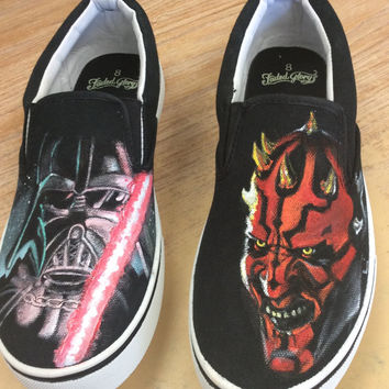 Star Wars custom painted men's shoes.