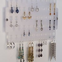 Earring Holder Organizer Closet Jewelry Storage Rack Acrylic - Angelynn's Jewelry Organizers (Earring Angel Frosted)