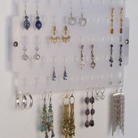 Wall Earring Holder Organizer Rack Jewelry Storage Closet Organizer - Angelynn's (Earring Angel Frosted)