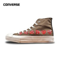 Converse CDG X Chuck Taylor 1970s HiOX 18SS Skateboarding Shoes All Star High-Top Authentic For Men and Women Unisex  35-44