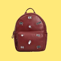 Zoom In PU Leather Backpack