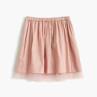 crewcuts Girls Pull-On Skirt With Tulle Hem