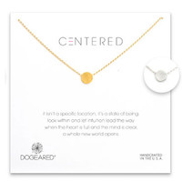 Dogeared Centered Medium Circle Soldered Necklace -  Sterling Silver & Gold Dipped 18 inch