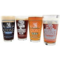 Libbey Stone Brewing Company Decorated 16-Ounce Mixing Glass Set, 4-Piece