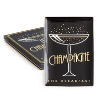 Champagne For Breakfast Porcelain Tray