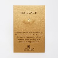 Dogeared Gold Plated Balance Small Triangle Ring