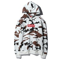 Supreme Cow Camouflage Hoodie Sweater M--XXL