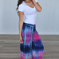WATERCOLOR PALAZZO PANTS- PURPLE