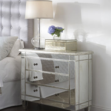Garbo Mirrored Hall Chest | Glam Furniture