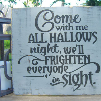 Halloween Decoration Signs,Scary Halloween,Halloween Yard Decor,Haunted House, Spooky Signs,Halloween Party Decor,Halloween Porch Decor